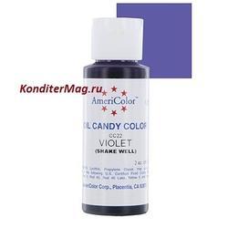 Краситель для шоколада Americolor Фиолетовый Violet 56 г. 1