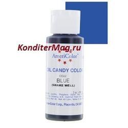Краситель для шоколада Americolor Синий Blue 56 г. 1