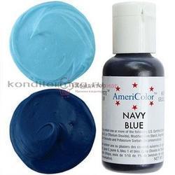 Краситель гелевый AmeriColor Темно-синий Navy Blue 21 г. 1