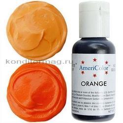 Краситель гелевый AmeriColor Апельсин Orange 21 г. 1