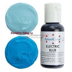 Краситель гелевый AmeriColor Голубой электрик Electric Blue 21 г. 1