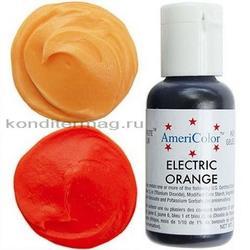 Краситель гелевый AmeriColor Оранжевый электрик Electric Orang 21 г. 1