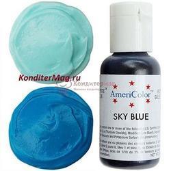 Краситель гелевый AmeriColor Голубое небо Sky Blue 21 г. 1
