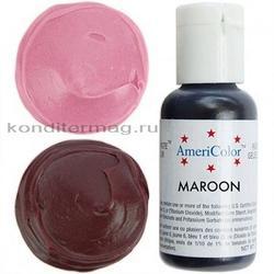 Краситель гелевый Каштановый Maroon AmeriColor 21 г. 2