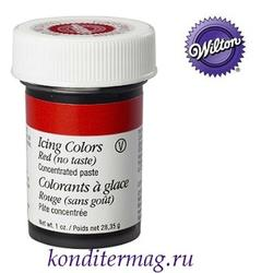 Краска гелевая Красная 28 г. без вкуса Вилтон 1