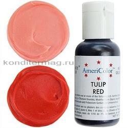 Краситель пищевой AmeriColor Красный Тюльпан (Tulip Red) 21 г. 1