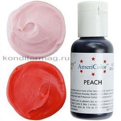 Краситель гелевый Персик Peach AmeriColor 21 г. 1