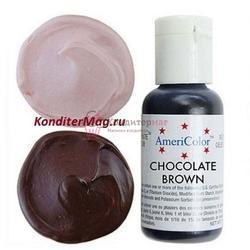 Краситель гелевый AmeriColor Шоколадный Chocolate Brown 21 г. 1