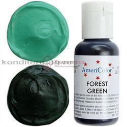 Краситель гелевый AmeriColor Зеленый лес Forest Green 21 г. 1