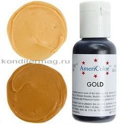 Краска гелевая Желтое золото Gold AmeriColor 21 г. 3
