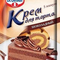 Крем для торта шоколадный Dr.Oetker, 55 г, 1