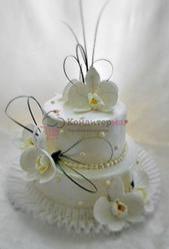 Кружево белое для украшения тортов 183х7 см. Вилтон 1