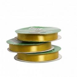 Лента атласная Золотая 6 мм.х27 м. 1