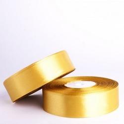 Лента атласная Золотая 25 мм.х27 м. 1