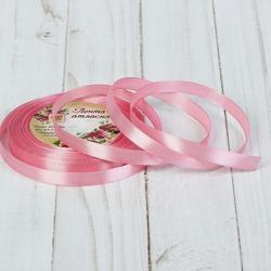 Лента атласная №41 Бледно-розовая 1 см.х23 м. 1