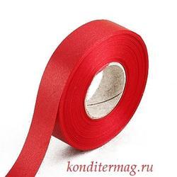 Лента атласная Красная 2 см.х45 м. 1