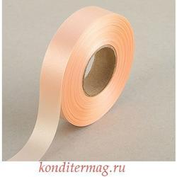 Лента атласная Кремовая 2 см.х45 м. 1