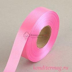 Лента атласная Розовая 2 см.х45 м. 1