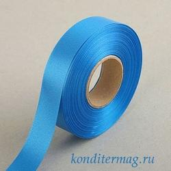 Лента атласная №40 Синяя 4 см.х23 м. 1