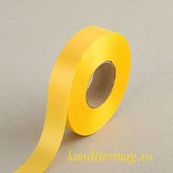 Лента атласная Ярко-желтая 2 см.х45 м. 1