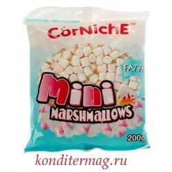 Маршмеллоу мини воздушный зефир CorNiche бело-розовый 200 г. 1