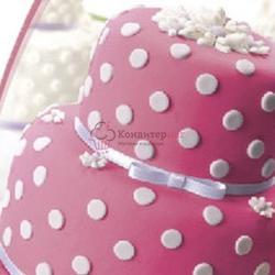 Мастика сахарная Топ Продукт розовая 600 г. 1