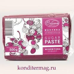 Мастика сахарная Криамо фиолетовая 500 г. 1