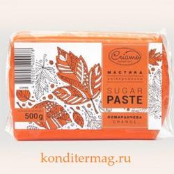 Мастика сахарная Криамо оранжевая 500 г. 1