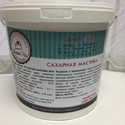 Мастика сахарная Кондитермаг белая 6 кг. ведро 1