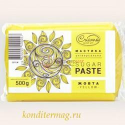 Мастика сахарная Криамо желтая 500 г. 1