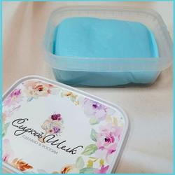 Мастика сахарная Сладкий шелк голубая 250 г. 1