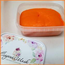 Мастика сахарная Сладкий шелк оранжевая 250 г. 1