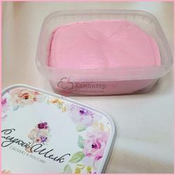 Мастика сахарная Сладкий шелк светло-розовая 250 г. 1