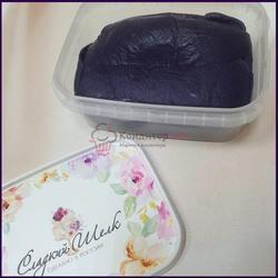 Мастика сахарная Сладкий шелк темно-фиолетовая 250 г. 1