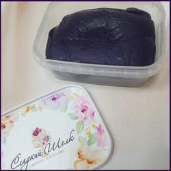 Мастика сахарная Сладкий шелк фиолетовая темная 250 г. 1