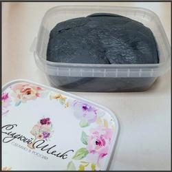 Мастика сахарная Сладкий шелк темно-серая 250 г. 1
