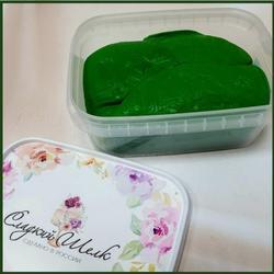 Мастика сахарная Сладкий шелк темно-зеленая 250 г. 1