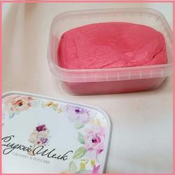 Мастика сахарная Сладкий шелк ярко-розовая 250 г. 1
