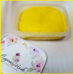 Мастика сахарная Сладкий шелк желтая 250 г. 1