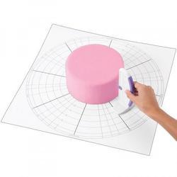 Коврик для торта 51х51 см. с разметкой Вилтон 1