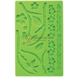 Молд силиконовый планшет Природа  20х13 см. 1
