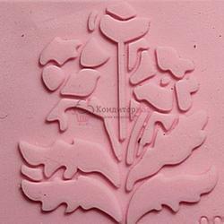 Мат текстурный для мастики 5х5 см. Цветок силикон 1