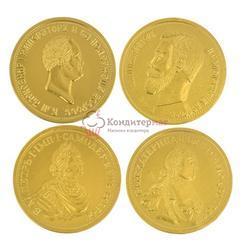Медаль шоколадная Императоры России 25 г. 1