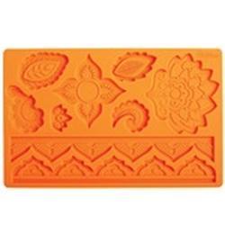 Молд силиконовый планшет Кружевные медальоны 20х13 см. 1