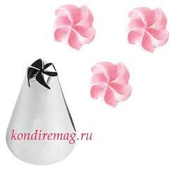 Насадка  кондитерская №106 Цветок 5 лепестков 1