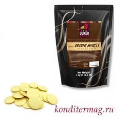 Какао-масло натуральное Luker минидиски 200 г. 1
