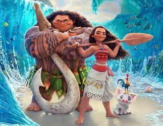 Вафельная картинка Моана и Мауи 1