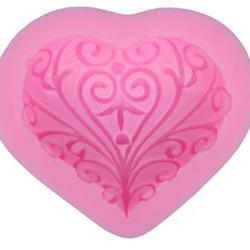 Молд для шоколада и мастики силиконовый Кованое сердце 7х6 см, 1