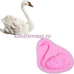 Молд силиконовый Лебедь 7х5 см. 2