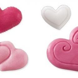 Молд для шоколада и мастики силиконовый Сердечки Delicia Deco, 2